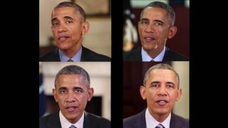 Teaser -- Synthesizing Obama: Learning Lip Sync from Audio