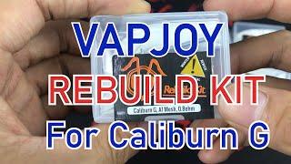 How to Rebuild Calİburn G and Koko Prime Coil Head with VAPJOY Rebuild Kit | Tutorial