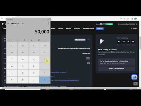 How To Claim $50,000 Worth Of Dvision Network Airdrop On Coinmarketcap Fast And Free Latest Airdrop
