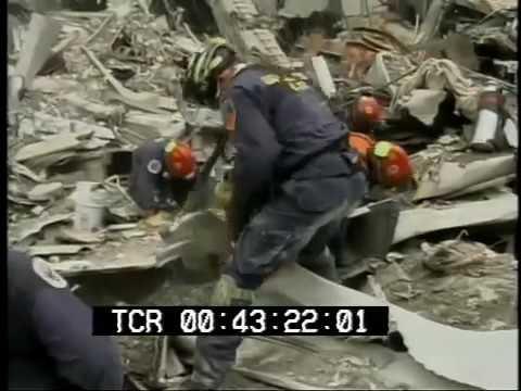 September 11, 2001 World Trade Center aftermath raw stock footage Part 3 PublicDomainFoota