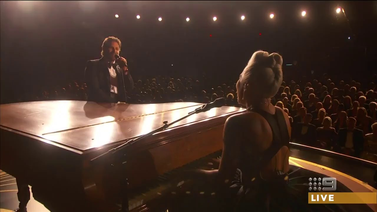 Lady Gaga ft. Bradley Cooper singing Shallow at Oscars ...