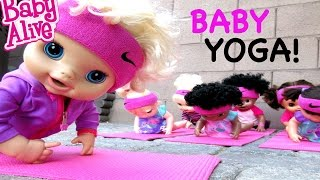 BABY ALIVE Goes To A Yoga Class With Baby Alive Dolls!
