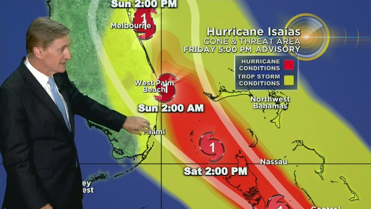 Tracking Hurricane Isaias Tropical Storm Warnings In Miami Dade And Broward Youtube