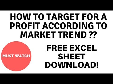 How To Target Perfectly According To Market Trend - Free Excel Calculator Sheet Download