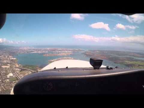Cessna 172 - Flight Around Oahu w/ATC Comm