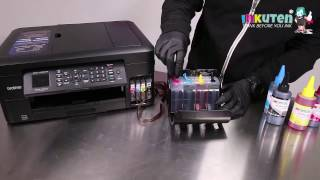 Continuous Ink system Installation Brother LC201 LC203 LC205 LC207 Ink Cartridges