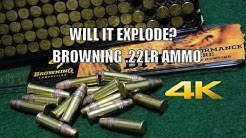 Browning BPR .22LR Ammo - Will it Explode? (4K video)
