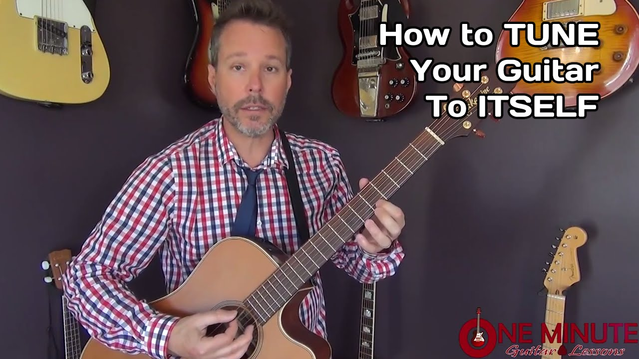 how to tune a guitar to itself one minute guitar lesson youtube. Black Bedroom Furniture Sets. Home Design Ideas