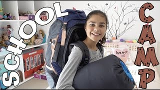 Packing for School Camp Routine | Grace's Room