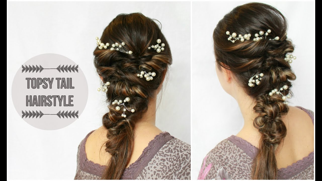 diy side boho topsy tail hairstyle in minutes - youtube