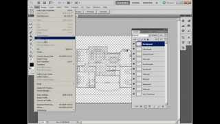 Painting Autocad Drawings With Photoshop: 03/10 Eps To Psd