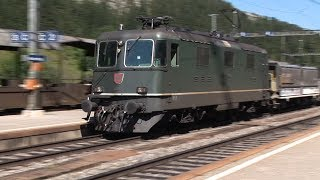 Non-Stop Rail Action at Kandersteg, High in the Swiss Alps