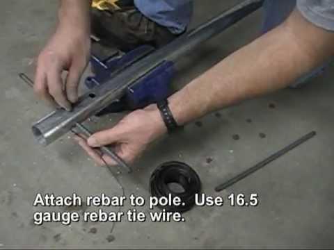 Portable Concrete Tire Tetherball Set