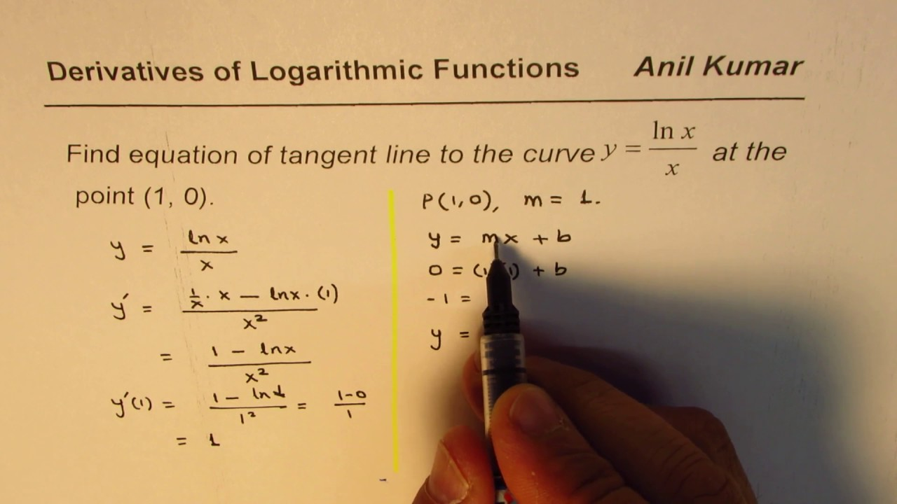 how to find equation of a tangent