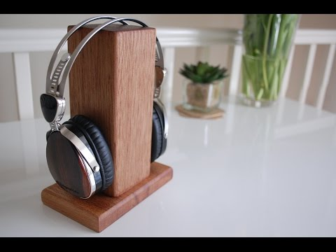 How To Make A Wooden Headphone Stand Out Of Reclaimed Wood