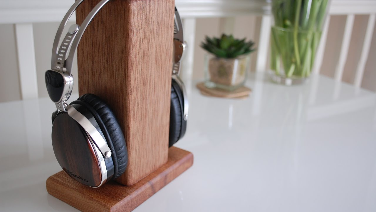 Headphone Stand Out Of Reclaimed Wood