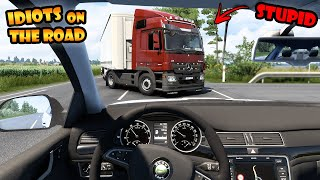 ★ IDIOTS On The Road #79 - DRIVING Skoda - ETS2mp Funny Moments - Euro Truck Simulator 2