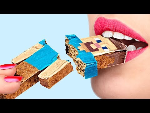 6 DIY Minecraft Candy vs Roblox Candy Challenge!