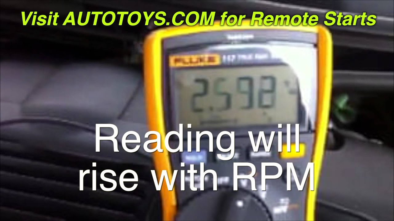 Testing for a Remote Start TACH (FUEL INJECTOR) RPM wire with a ...