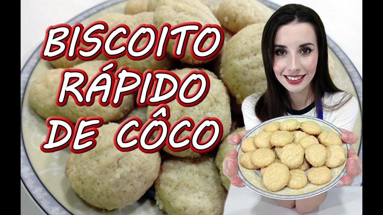 Biscoito Rápido de Coco