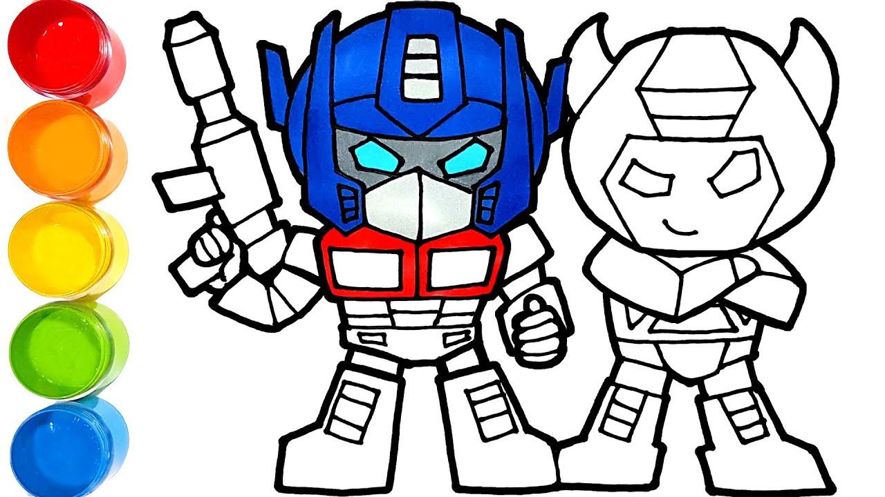 Transformers Optimus Prime Dan Bumblebee Warna Warni Belajar Menggambar Dan Mewarnai Untuk Anak