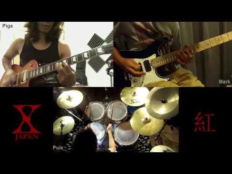 X-Japan ~ 紅 / Kurenai【Band Edition】Guitar and Drum Cover