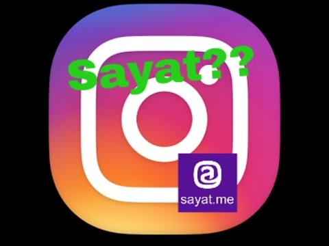 sayat on instagram??(hindi)how to post & what is it??