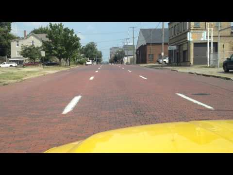 Driving Through Canton, Ohio On Cleveland Ave.