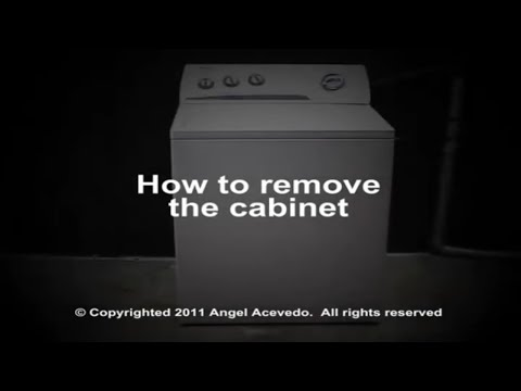 Cabinet removing Whirlpool direct drive washer - YouTube