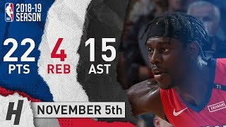 Jrue Holiday Full Highlights Pelicans vs Thunder 2018.11.05 - 22 Pts, 15 Ast, 4 Rebounds!