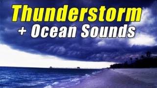 THUNDERSTORM Relaxing Sounds of Nature Ocean Waves Rain Storm Beach Relaxation Relax HD 1080P