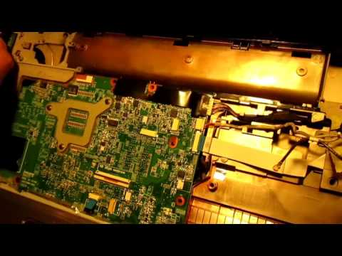 HP pavilion dv6 notebook disassembly, changing touch pad ribon cable