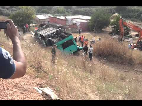 مكناس حادثة انقلاب حافلة بقنطرة ويسلان accident de bus meknes wislan