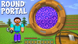 What Is This ROUND PORTAL Doing Here In Minecraft ???
