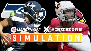 Seattle Seahawks vs. Arizona Cardinals Week 7 Full Game | Madden 2020 Season Simulation