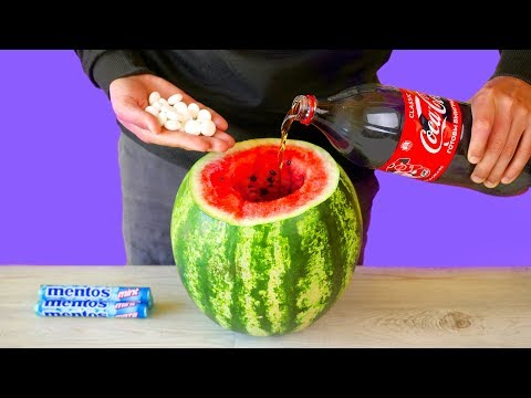 WATERMELON VS COCA COLA VS MENTOS! 7 AMAZING LIFE HACKS AND EXPERIMENTS!