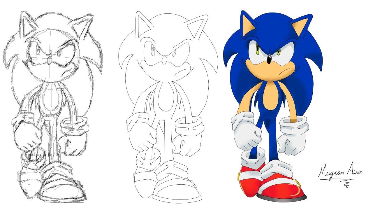 Desenhando O Sonic X Speed Drawing Youtube