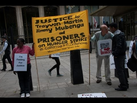 London Solidarity with Californian Hunger Strike-US Embassy-31-07-2013-01