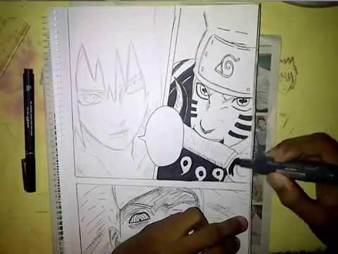 desenhando naruto vs madara em 3d drawing naruto x madara in 3d