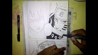 Drawing Naruto And Sasuke VS Madara