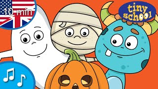 Halloween Monster Finger Family Song Collection - Nursery Rhymes & Songs for children - tinyschool