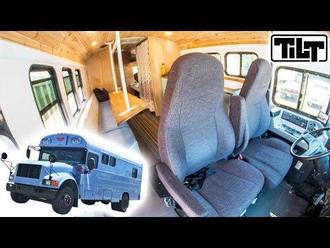 School Bus Converted Into a Tour Bus! [Tilt] │ The Vault Pro Scooters