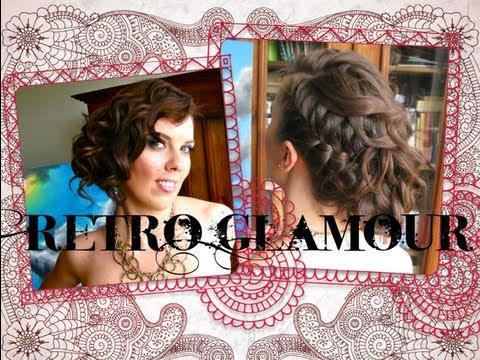 Retro Glamour Nowoczesna Fryzura Na Wyjścia Wesela Bale śluby Wedding Hairstyle