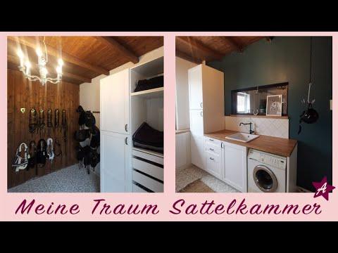 Roomtour Sattelkammer I MAKEOVER Mein neues Pferde Zimmer I Schabracken im Reitschrank aufhängen?