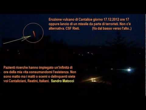 Prova notturna eruzione Vulcano di Cantalice.  17.12.2012 CSF Rieti