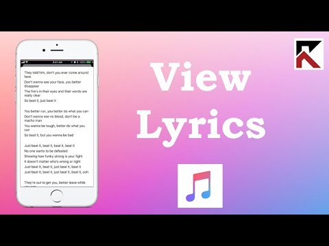 How To View Lyrics In Apple Music