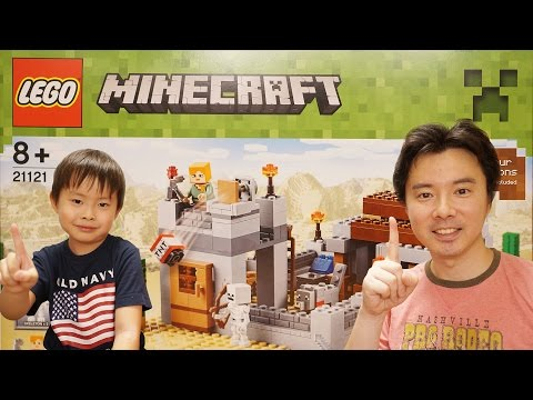 ミニ寸劇あり!新シリーズ2! LEGO MINECRAFT The Desert Outpost 21121 レゴ マインクラフト 砂漠地帯