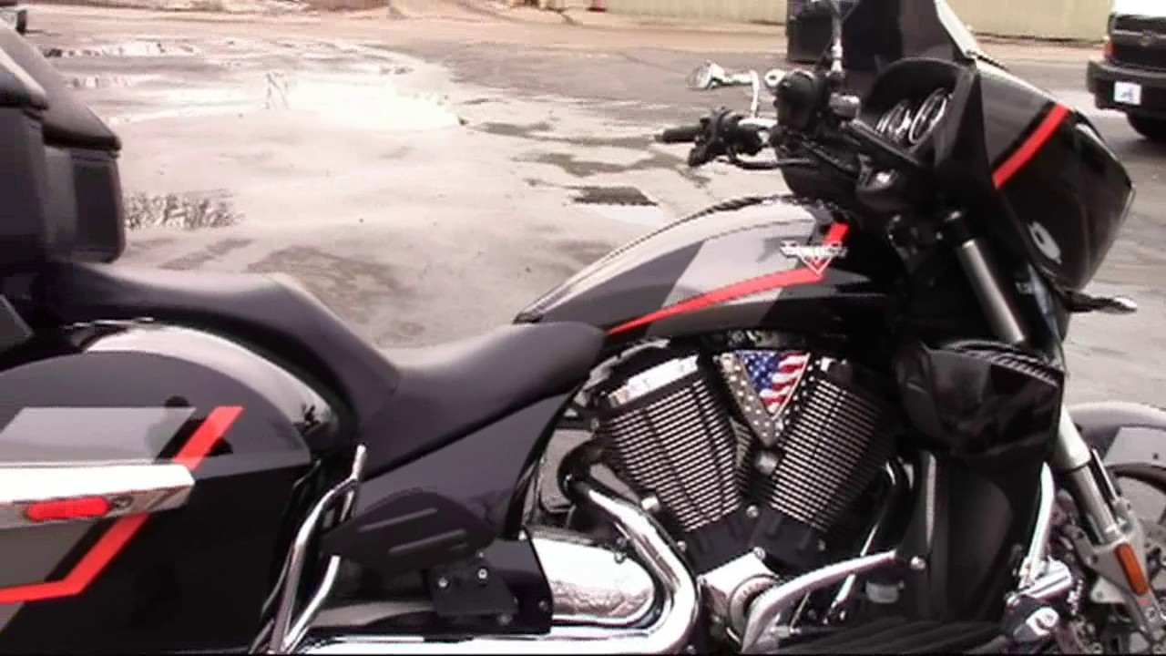 Speed Graphic Kit  For Victory Cross Country Tour YouTube - Vinyl graphics for motorcycles