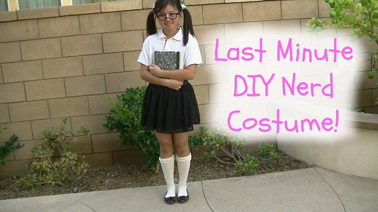 DIY LAST MINUTE NERD COSTUME! -DIYwithPri - YouTube