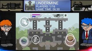Mini Militia: New Map- Undermine And New Guns | Learn How To Edit Maps V4.0.7